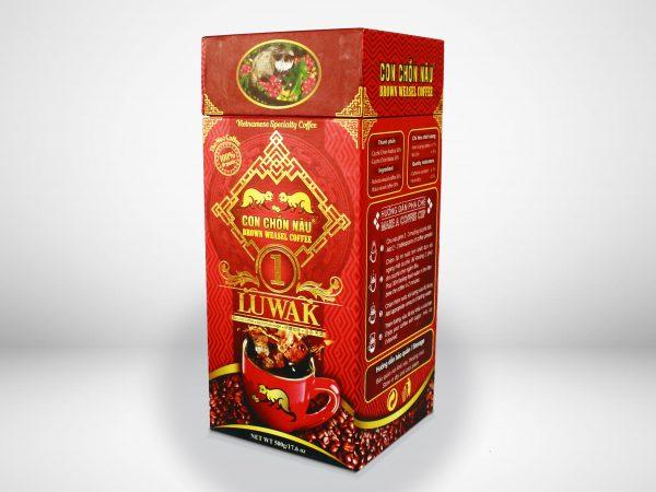 Cà Phê Con Chồn Nâu Hộp Luwak 500g