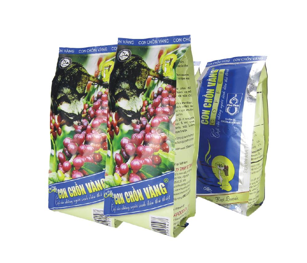 Cà Phê Bột Chế Phin 8 Con Chồn Vàng Túi 500g - Huca Food