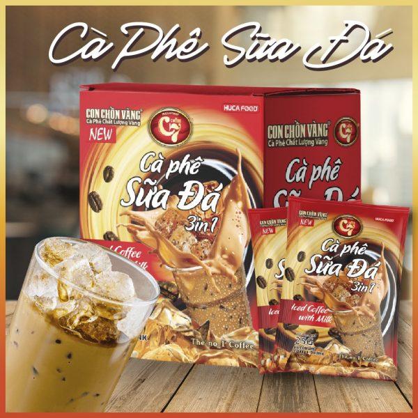 Cà phê sữa đá hòa tan 3in1 Con Chồn Vàng C7 Huca Food