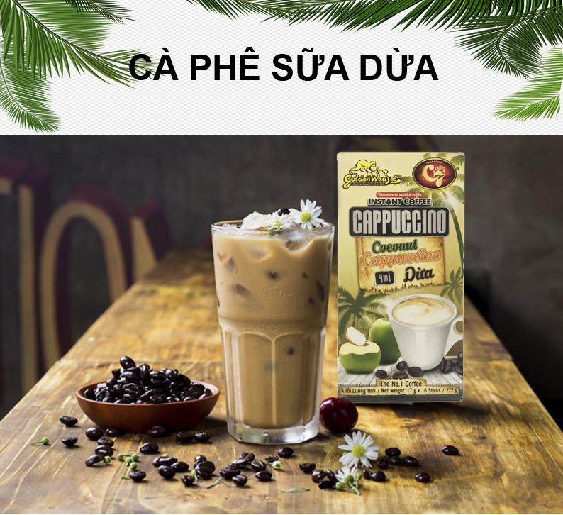 Cà Phê Dừa Hòa Tan 4in1 Cappuccino Con Chồn Vàng C7