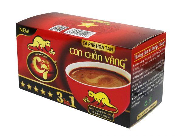 Cà Phê Hòa Tan 3in1 Con Chồn Vàng C7 New (17gr x 18 gói) 1. Cà phê hòa tan - Instant coffee