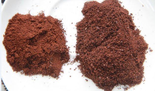 Nhận biết cà phê nguyên chất qua bột cà phê đã xay