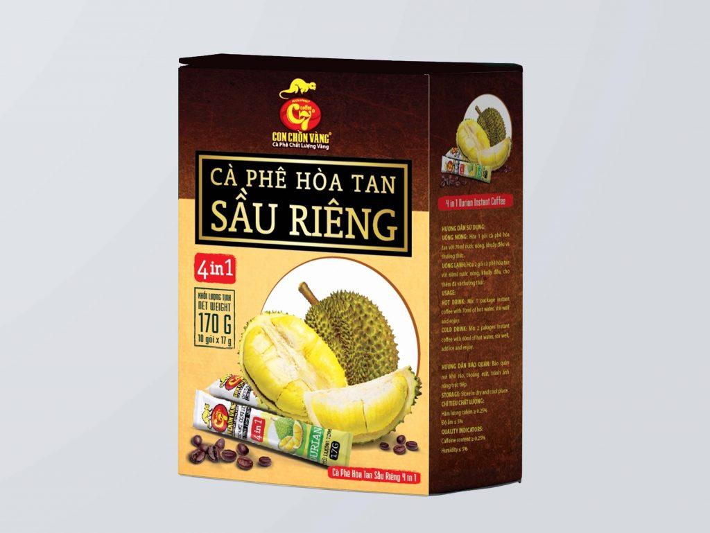 Cà phê sầu riêng hòa tan - durian instant coffee - cafe sầu riêng