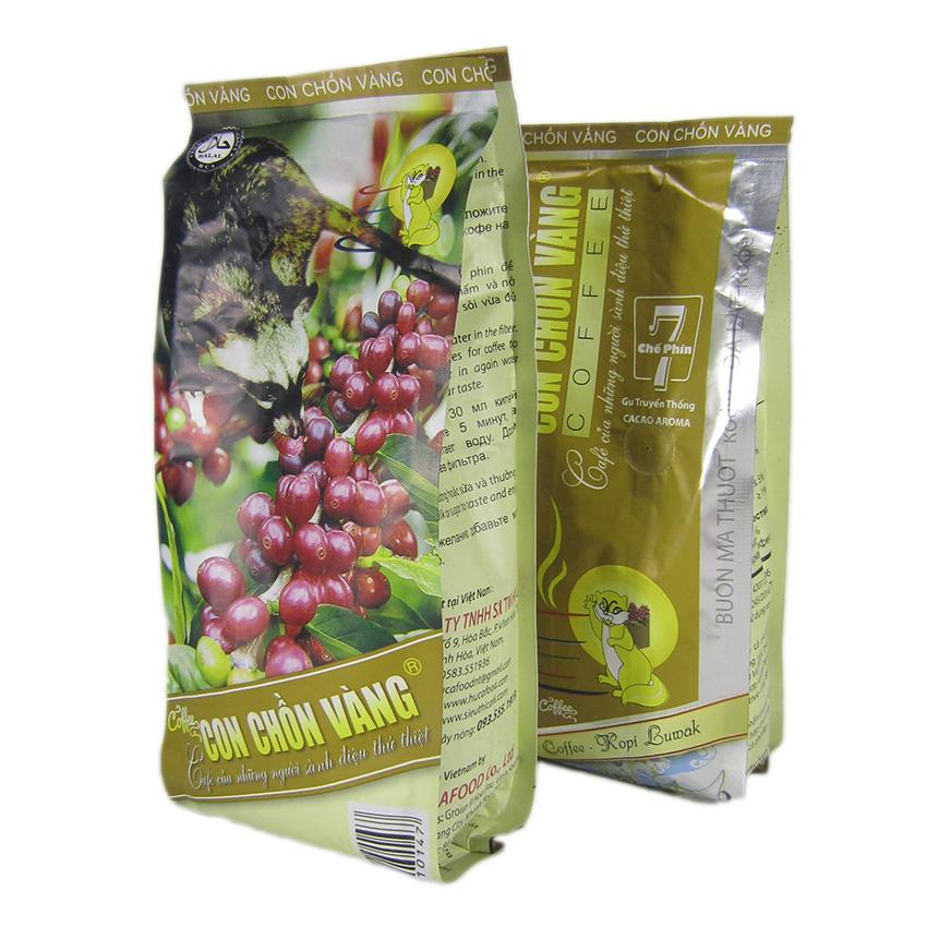 Cà phê rang xay chế phin số 7 Con Chồn Vàng 500gr - Huca Food.
