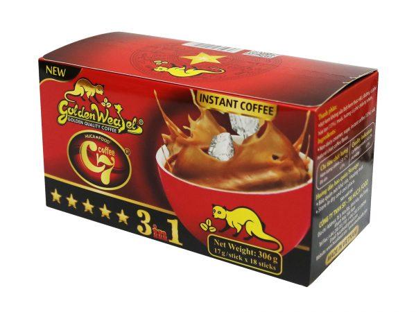 Cà Phê Hòa Tan 3in1 Con Chồn Vàng C7 New (17gr x 18 gói) 1. Cà phê hòa tan - Instant coffee 2