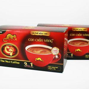 Cà Phê Hòa Tan 3in1 Con Chồn Vàng C7 - Huca Food - 18goix17gr