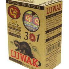 Cà phê hòa tan 3in1 Luwak Con Chồn Vàng C7 - Huca Food