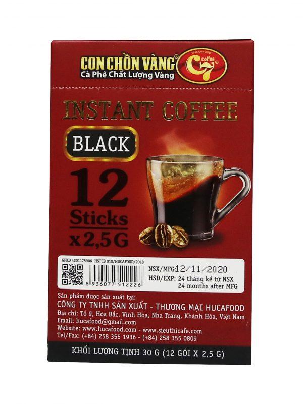 Cà Phê Hòa Tan Đen Con Chồn Vàng C7 – Hộp Đỏ 12gói x 12.5g Cà phê 4