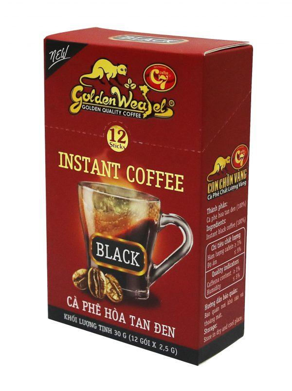 Cà Phê Hòa Tan Đen Con Chồn Vàng C7 – Hộp Đỏ 12gói x 12.5g Cà phê