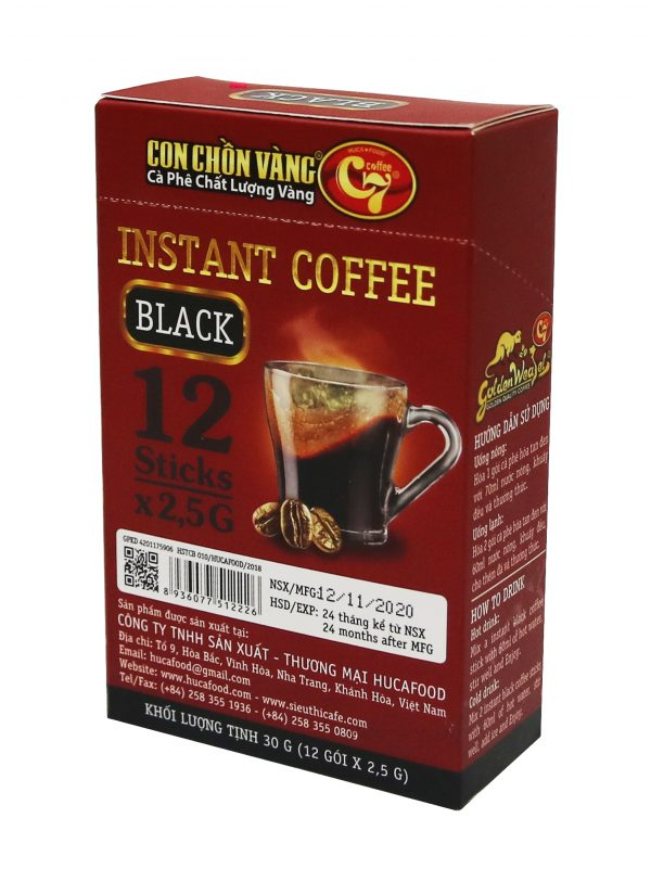 Cà Phê Hòa Tan Đen Con Chồn Vàng C7 – Hộp Đỏ 12gói x 12.5g Cà phê 2