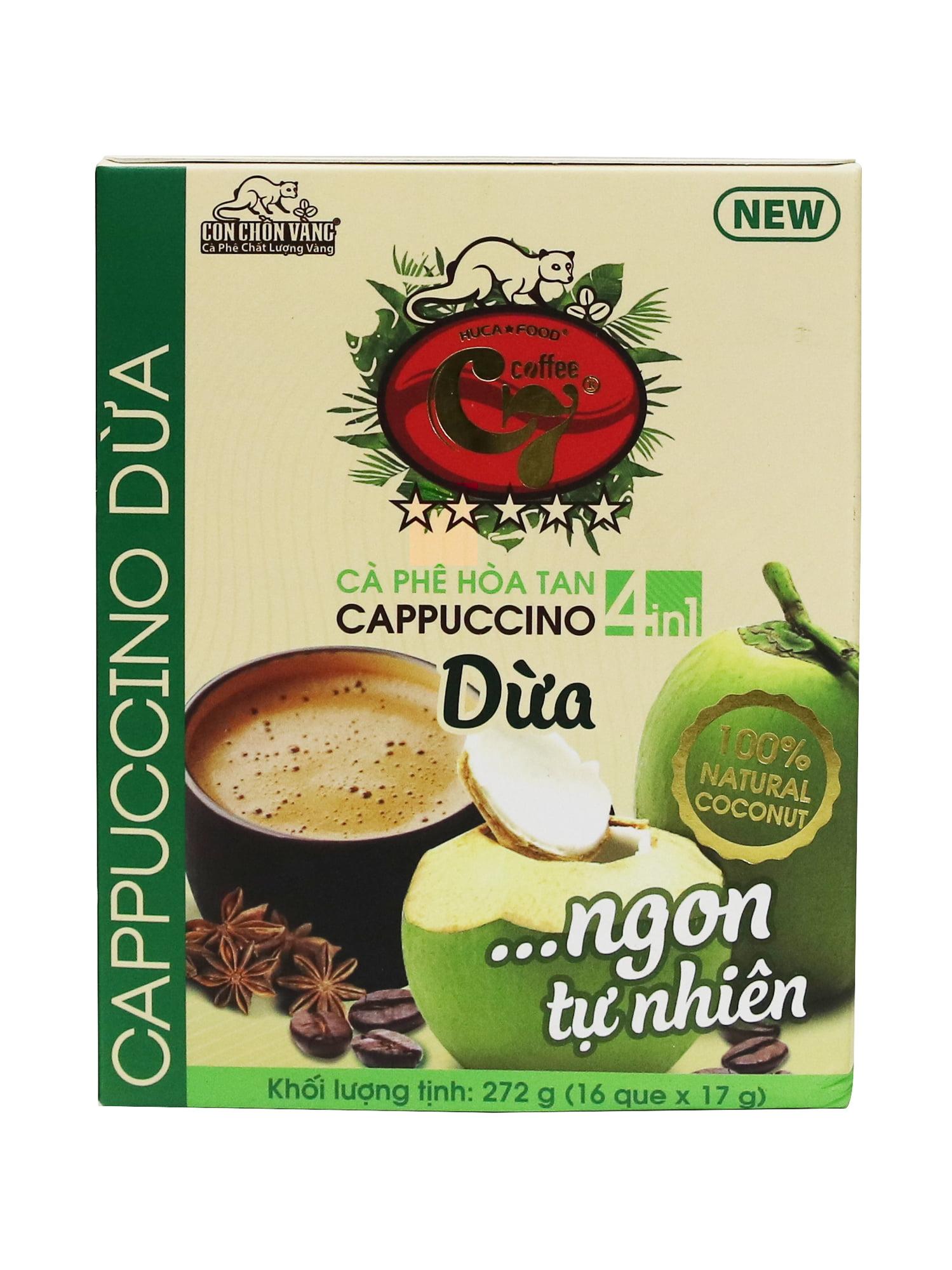 Cà phê cốt dừa dừa hòa tan là gì? cà phê cappuccino dừa là gì? Cà phê dừa mua ở đâu?