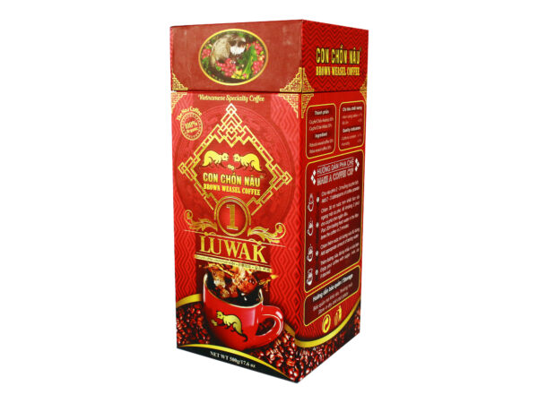 Cà phê bột Con Chồn Nâu Luwak - Hộp 500g Huca Food