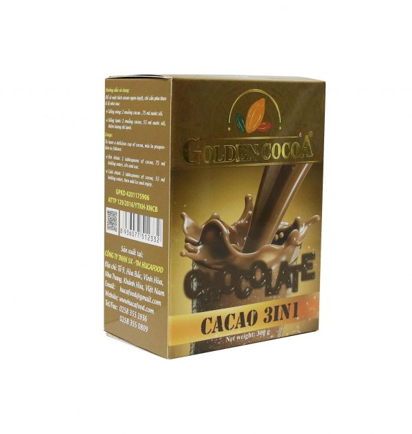 Cacao Hòa Tan 3in1 Hộp 300gr Cacao 2