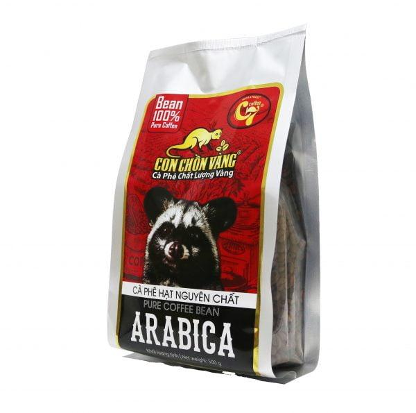 Cà Phê Hạt Arabica Rang Mộc Con Chồn Vàng – Túi 500Gr 4. Cà phê rang nguyên hạt