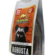 Cà Phê Hạt Robusta Rang Mộc Con Chồn Vàng – Túi 500Gr Cà phê