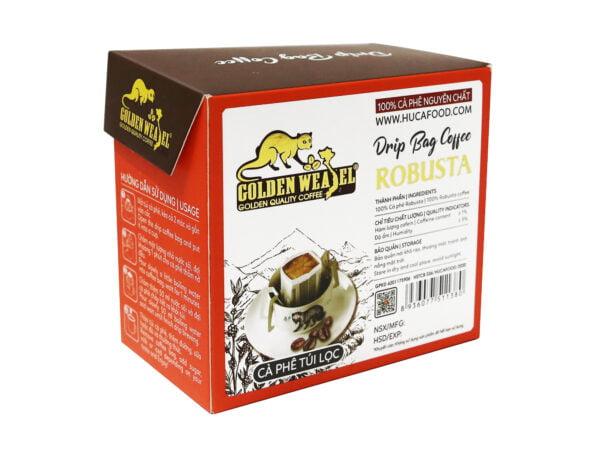 """Cà phê phin giấy - cà phê túi lọc Robusta - Huca Food """"Drip Bag Coffee"""""""